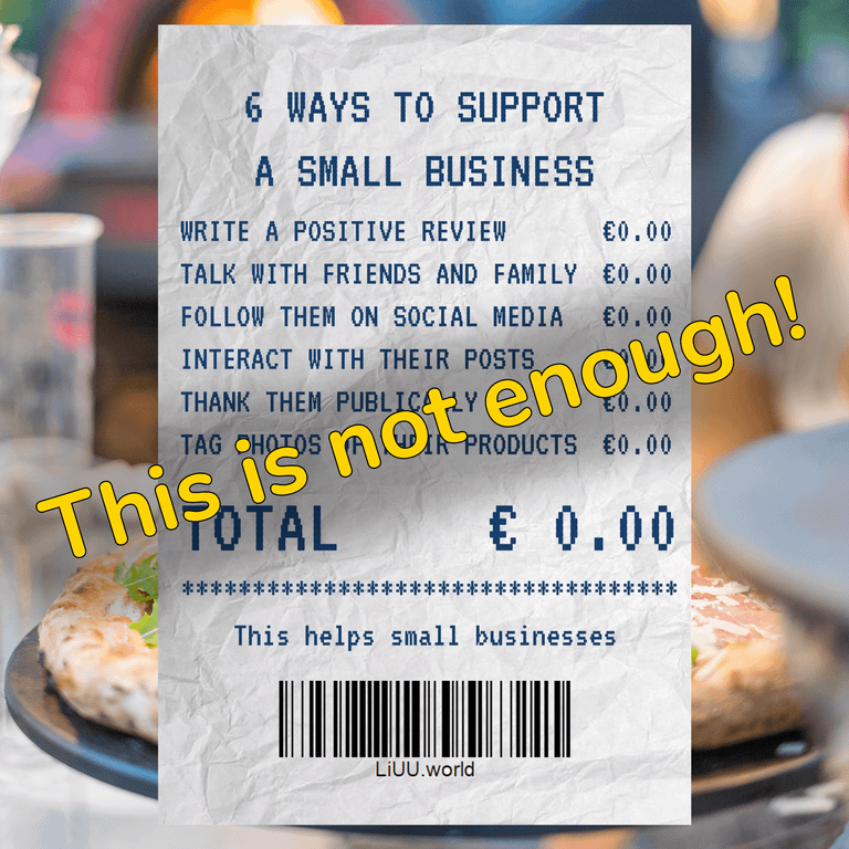 This is not enough to support local businesses